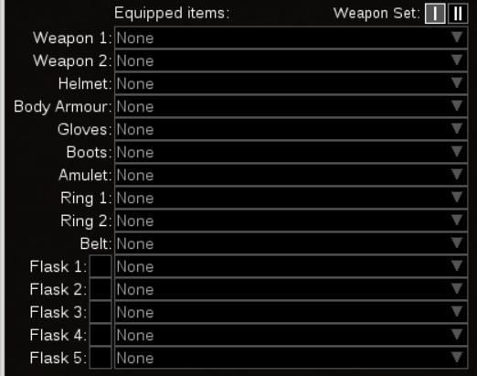 Path of Building Item page